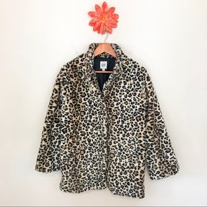 GAP Leopard Print Snap Coat